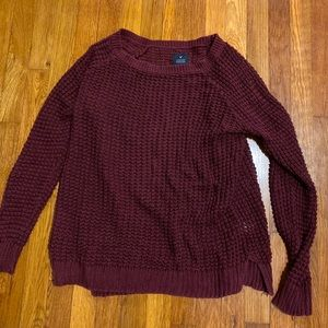 American eagle burgundy jogging fit sweater